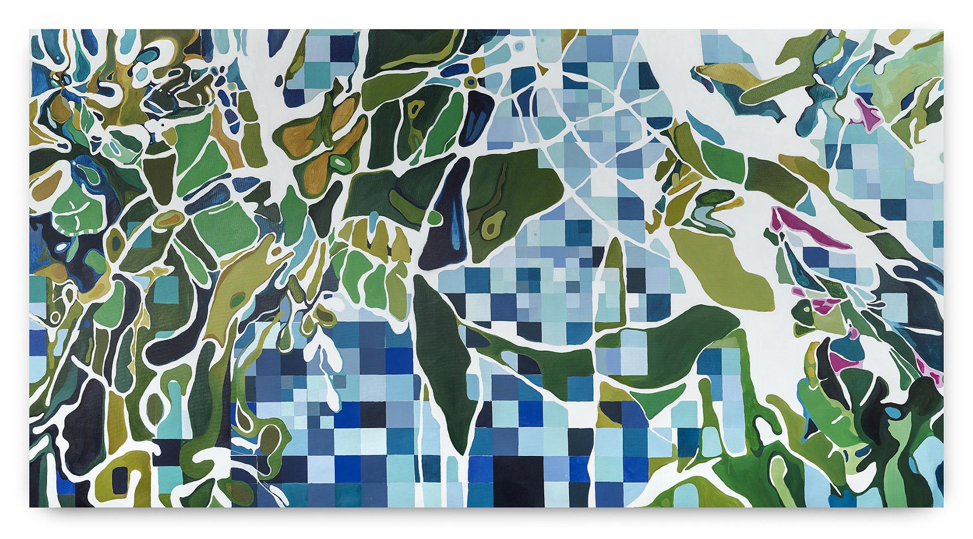 AUTUM LEAVES (2018)<br>140X280 cm<br>Oleo sobre tela