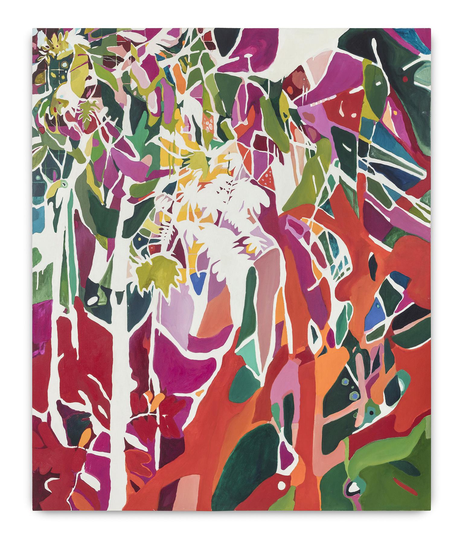 Bosque Tropical (2017)<br>Oleo sobre tela<br>170x140 cm