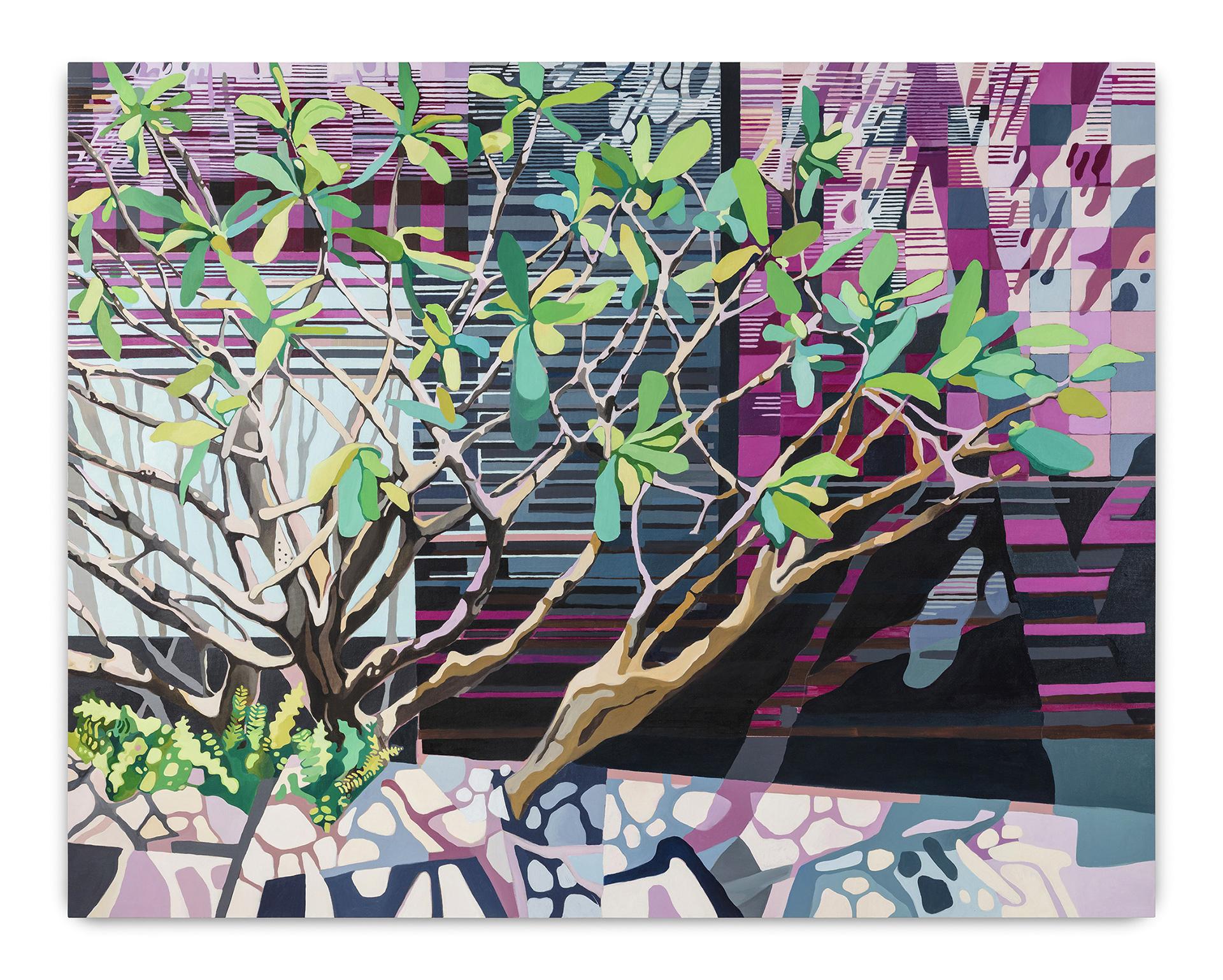 Realidades Paralelas (2018)<br>AcrÍLICA e óleo Sobre tela<br>145x185 cm