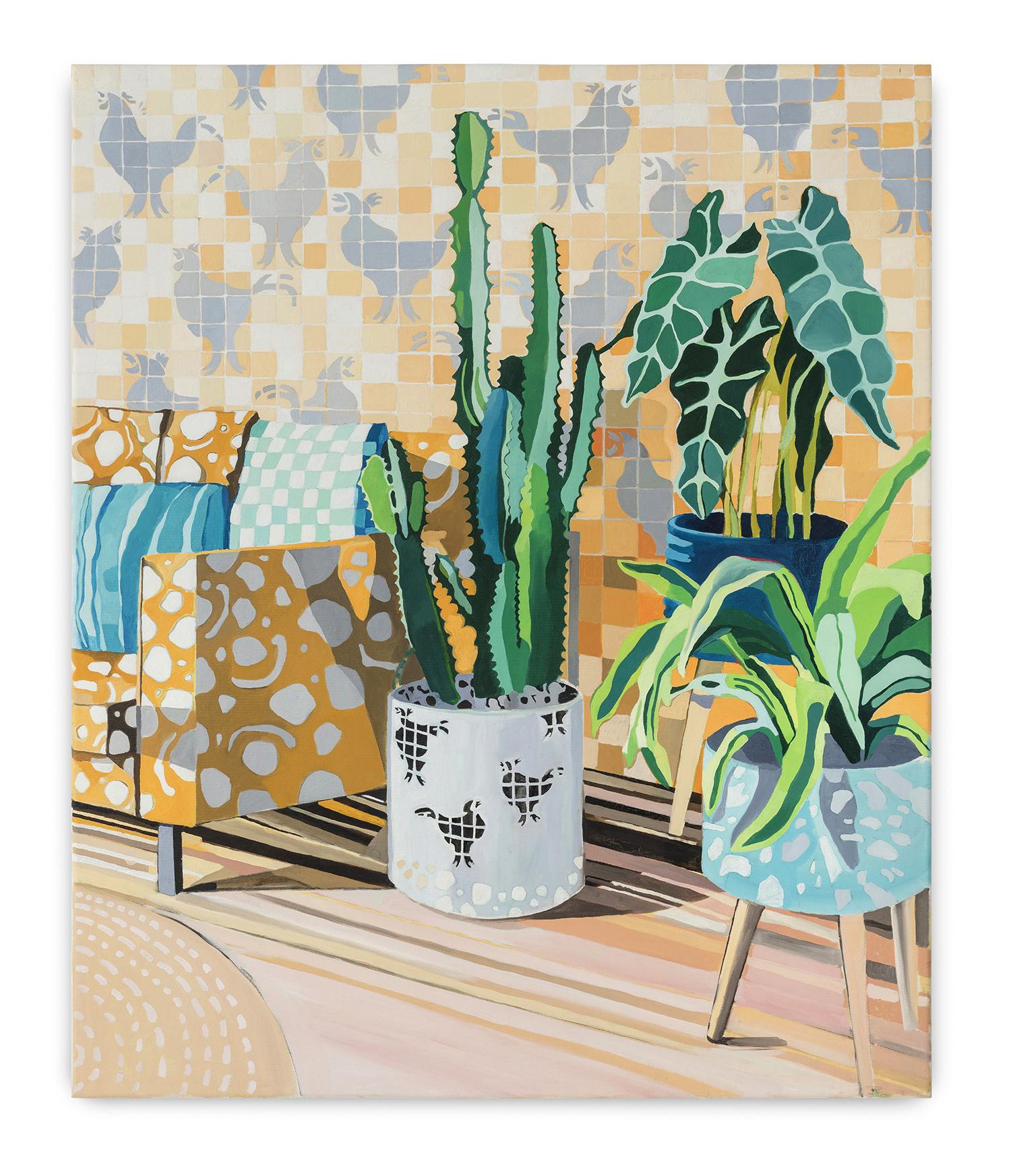Paisagem Interior (2018)<br>AcrÍLICA e óleo Sobre tela<br>120x100 cm
